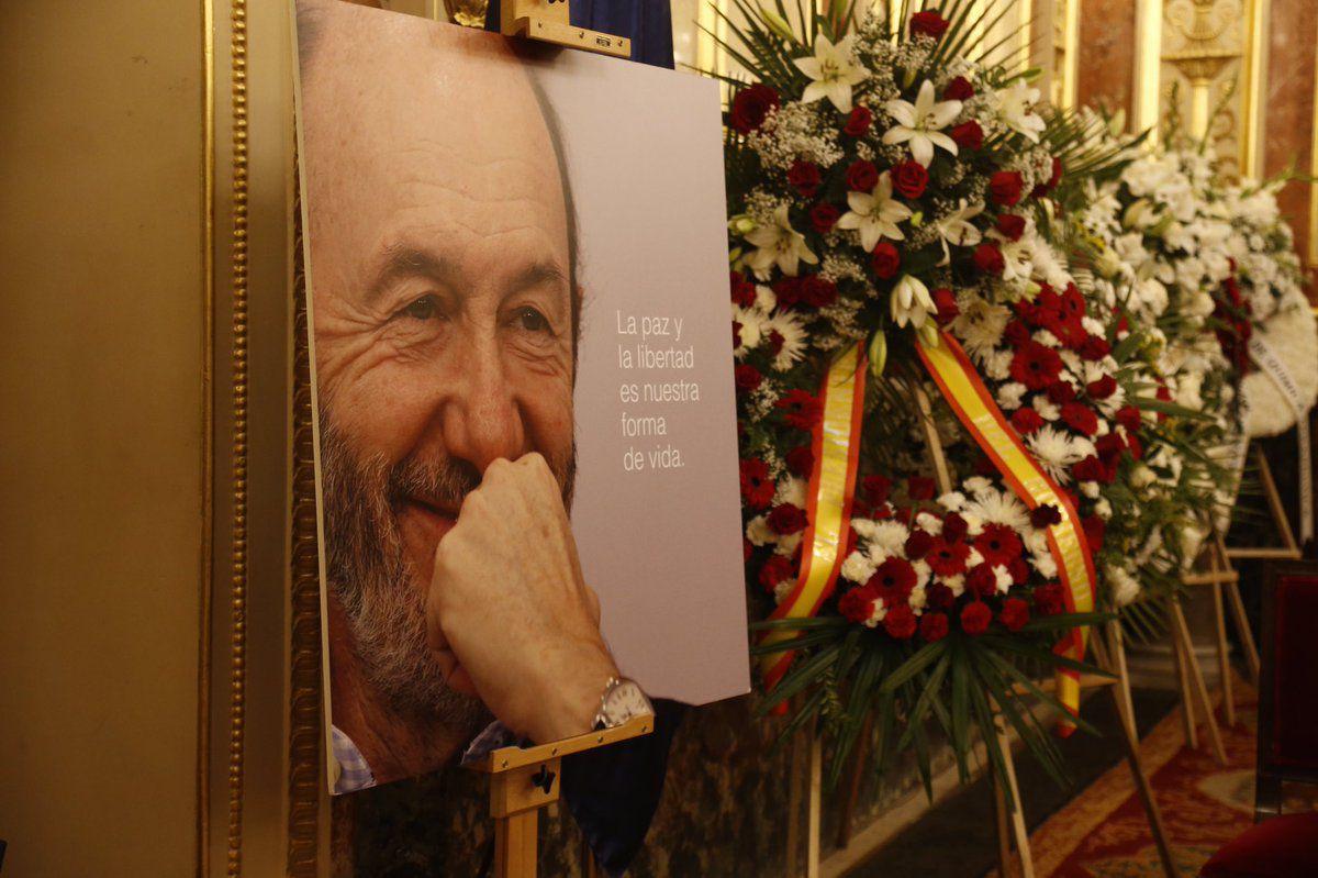 Capilla ardiente de Alfredo Pérez Rubalcaba