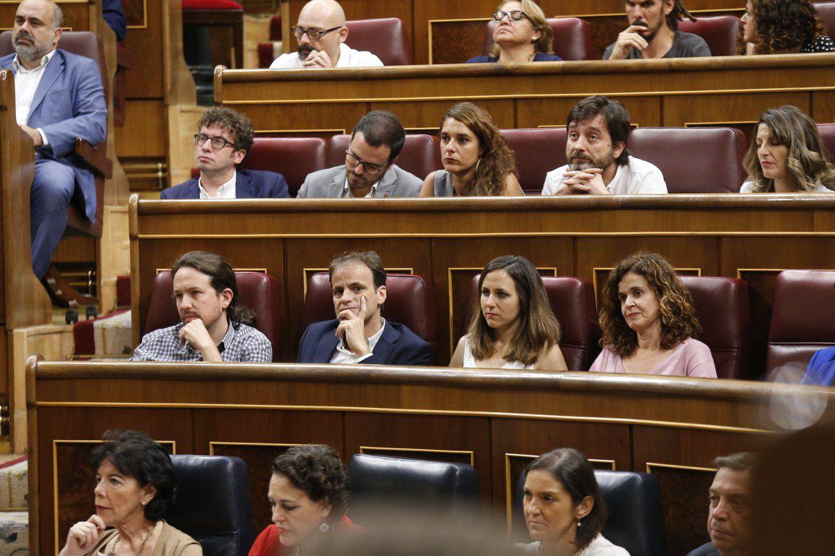 La bancada impasible de Podemos