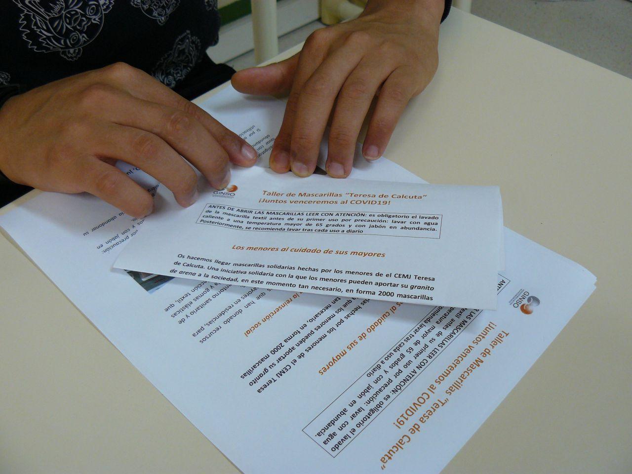 El CEMJ Teresa de Calcuta dona 2.000 mascarillas a residencias de mayores de la Comunidad de Madrid
