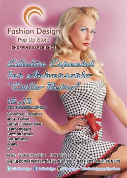 Fashion Design Pop Up Store te invita a celebrar el Primer Aniversario de su Shopping Experience los días 12 y 13 de septiembre