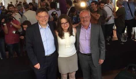 PSPV, Compromís y Podemos confirman la creación de un 'tripartito' para la Generalitat valenciana