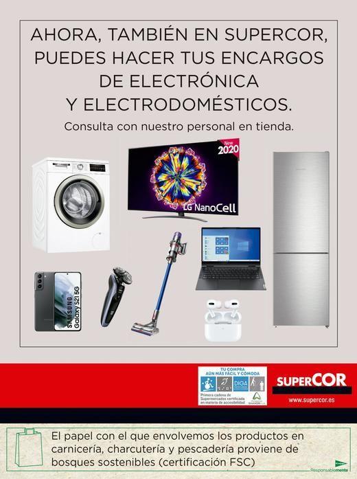Supercor venderá también productos de electrónica y electrodomésticos de El Corte Inglés