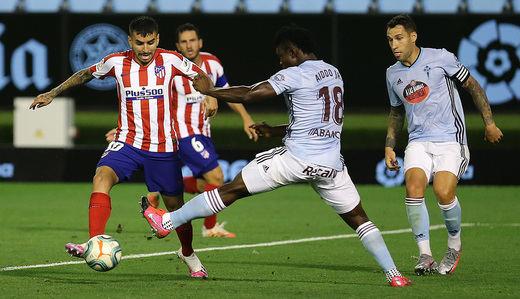 Atleti y Celta firman un empate que satisface a ambos (1-1)