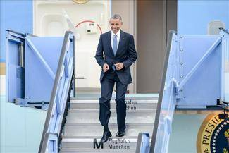 Obama llega en helicóptero a Elmau, donde arranca la cumbre del G7