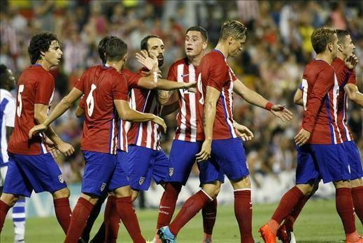 2-0 El Atlético afina ante la Real Sociedad