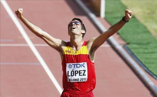 Miguel Ángel López, campeón mundial de 20 km marcha