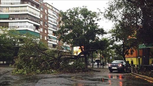 Madrid se vuelve peligrosa con las tormentas