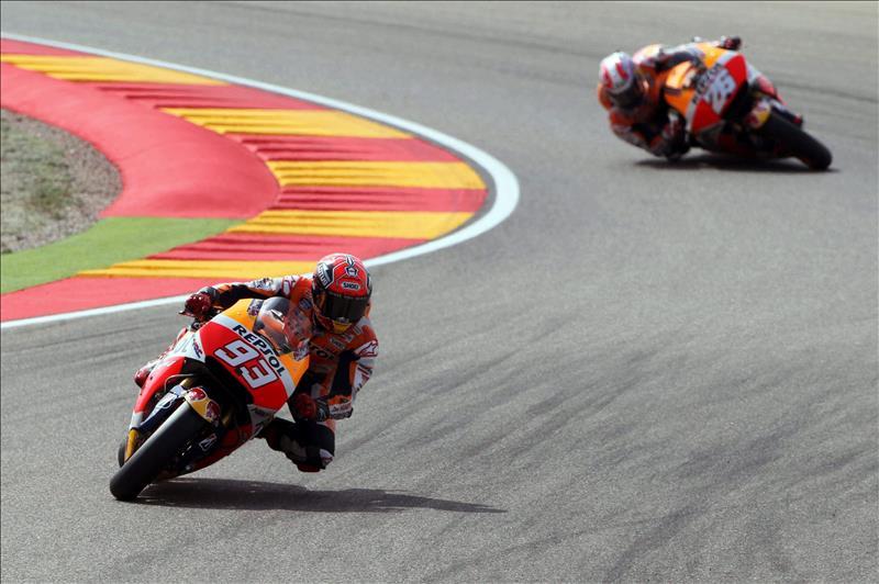 Márquez logra la pole en Alcañiz