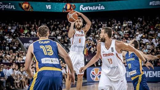 Rumanía, víctima de España en el Eurobasket (91-50)