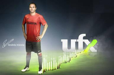 UFX contrata al futbolista Andrés Iniesta Luján como embajador de la marca
