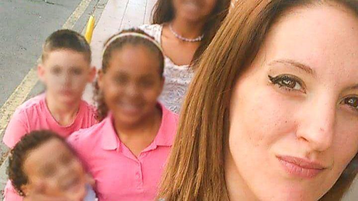 Verónica y sus cuatro hijos, en Getafe (Foto: MDO)