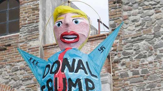 Queman a Donald Trump en la Semana Santa mexicana