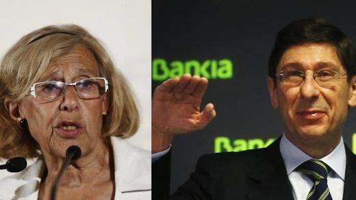 La futura alcaldesa intenta 'seducir' a la banca: Carmena se reúne con Goirigolzarri