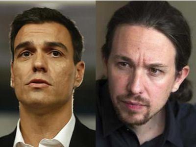 Sánchez e Iglesias acuerdan en su primer encuentro que los pactos los gestionarán sus líderes territoriales