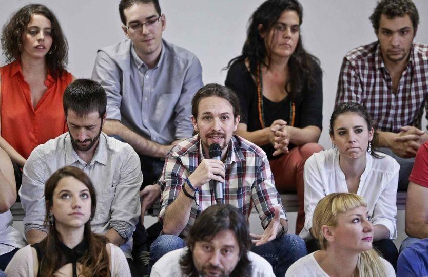 Pablo Iglesias presenta la 'ruta por el cambio' junto a su equipo/ Imagen: EFE
