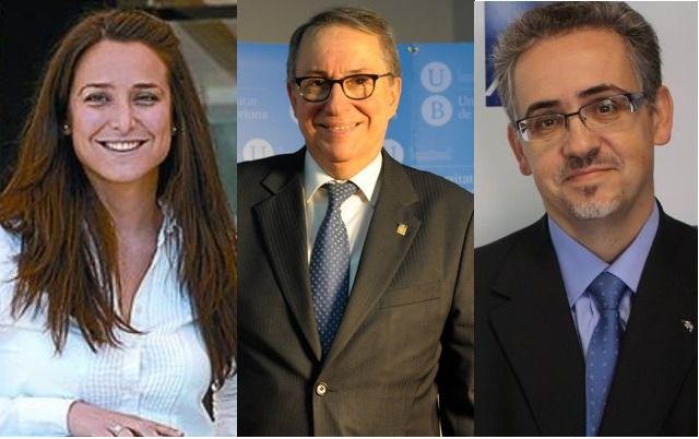 Olga Grau, D�dac Ram�rez i Sarri� y Antonio Jim�nez