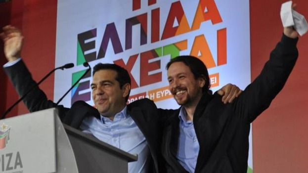 Podemos defiende a Tsipras, que sólo 'ha cedido muy poco' ante la 'troika' europea