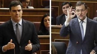 Rajoy afea a S�nchez que es 'imposible' tomarle 'en serio' tras pactar con Podemos