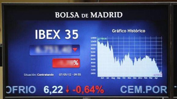 El Ibex se hunde más de un 4% tras decretarse el 'corralito' griego y la prima de riesgo se dispara