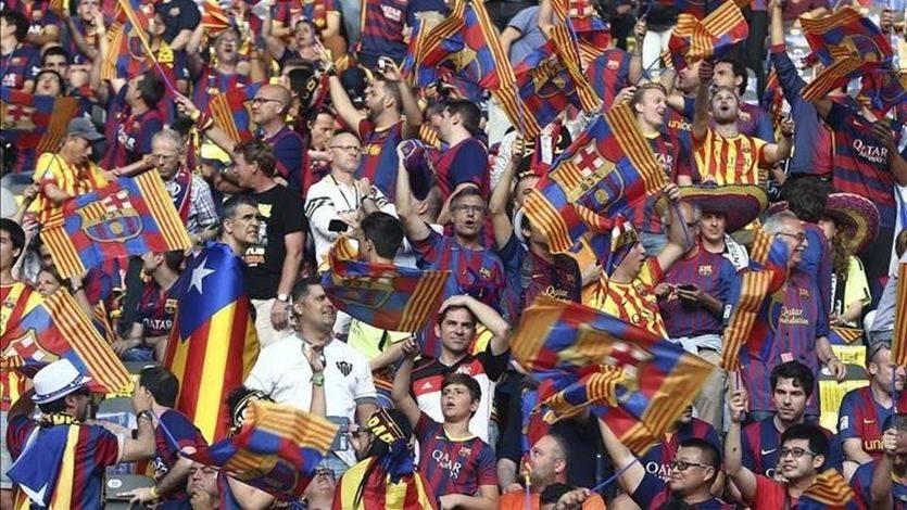 Expediente y multa millonaria al Barça por las banderas y cánticos independentistas en la final de la Champions