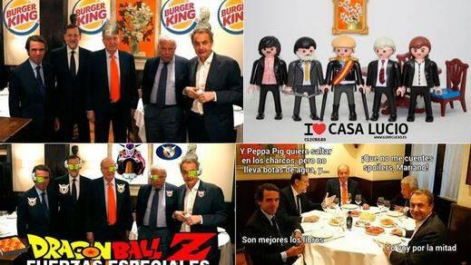 Twitter tira de creatividad para recrear la cena del Rey Juan Carlos con los presidentes