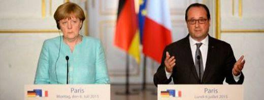 Merkel y Hollande dejan la puerta abierta a las negociaciones con Grecia