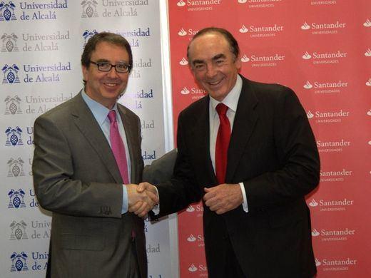 La internacionalización, el emprendimiento y el compromiso social, ejes del nuevo convenio de Banco Santander con la Universidad de Alcalá