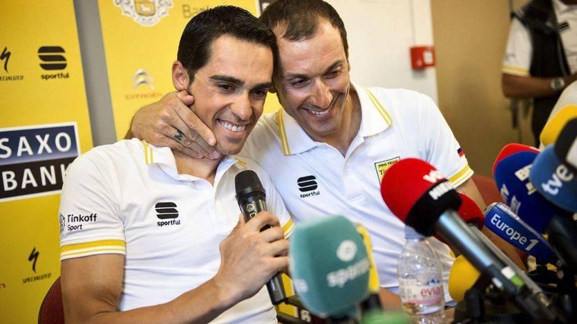 Ivan Basso, compañero de equipo de Contador en el Tour, abandona la competición por un cáncer testicular