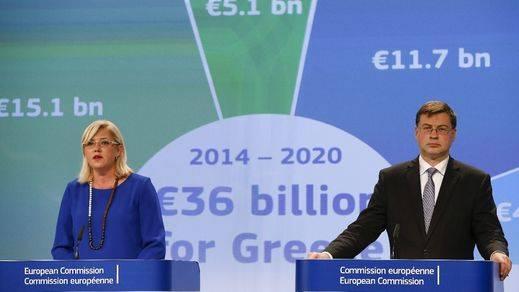 Bruselas propone un crédito puente inmediato de 7.000 millones a Grecia para tres meses