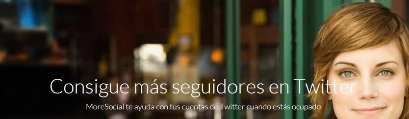 MoreSocial, una web para conseguir más seguidores en Twitter