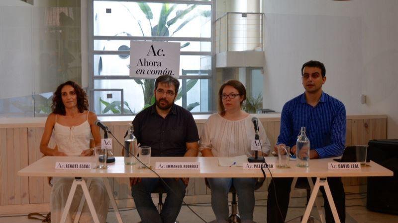 'Ahora en Común' presentará su 'candidatura de confluencia' en septiembre