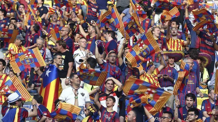 Multa de 30.000 euros al Barcelona por la exhibición de banderas independentistas en la Champions