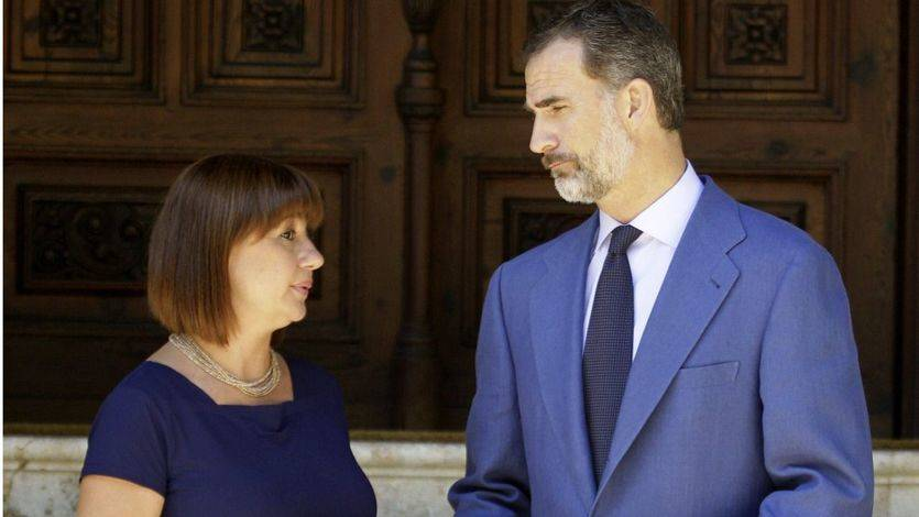 El Rey recibe en Marivent al nuevo Gobierno balear que quiere abrir su jardín al público