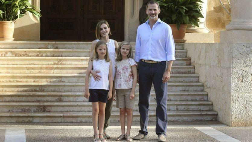 Los Reyes de España, en Mallorca