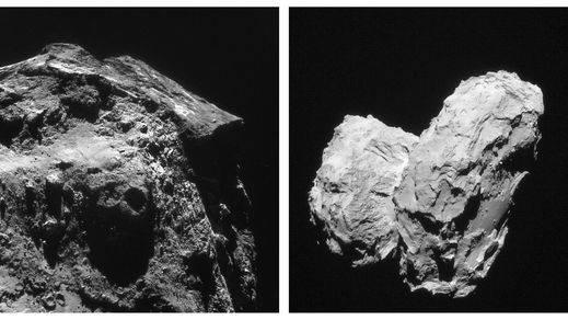 La sonda Rosetta cumple un año gravitando junto a su cometa