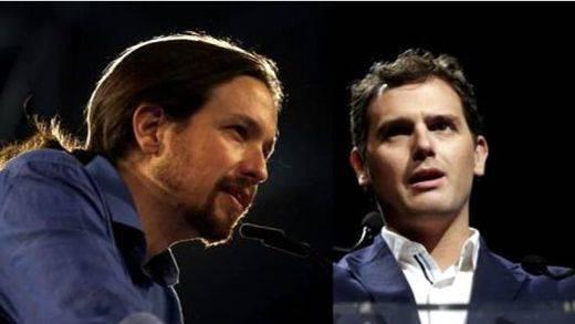 Podemos y Ciudadanos 'se reparten' a los votantes de IU y UPyD