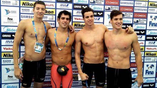 Por fin un éxito español en el Mundial: el 4 x 200 masculino bate el récord y se clasifica para los JJOO