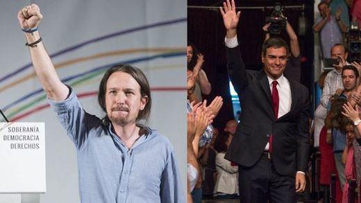 El PSOE y Podemos acercan posturas pensando en 'conquistar' la Moncloa