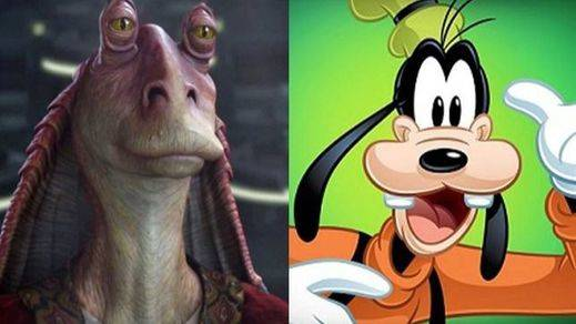 George Lucas se inspiró en Goofy para crear a Jar Jar Binks en 'Star Wars'