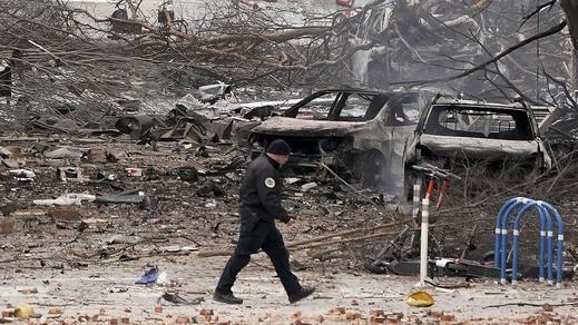 La policía cree haber encontrado restos humanos tras la explosión de Nashville, EEUU