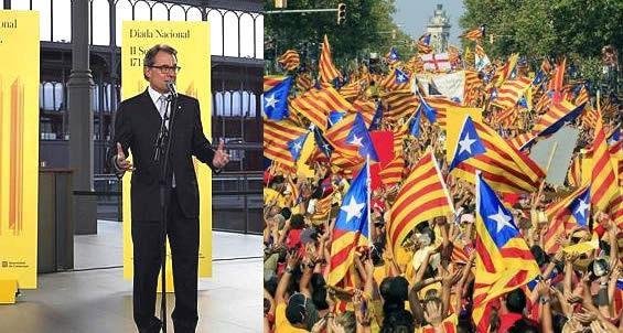 >> La Diada en Catalunya, marcada por el primer día de campaña electoral