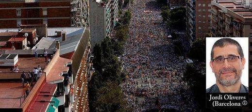 Éxito de la manifestación independentista: un millón y medio de personas salen a la calle