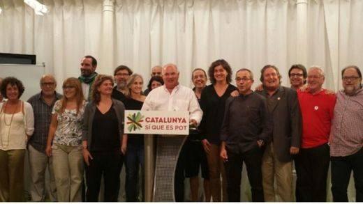 Miembros de la corriente independentista de ICV manifiestan su apoyo a Lluís Rabell