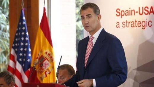 El Rey anima a los empresarios estadounidenses a invertir en una España