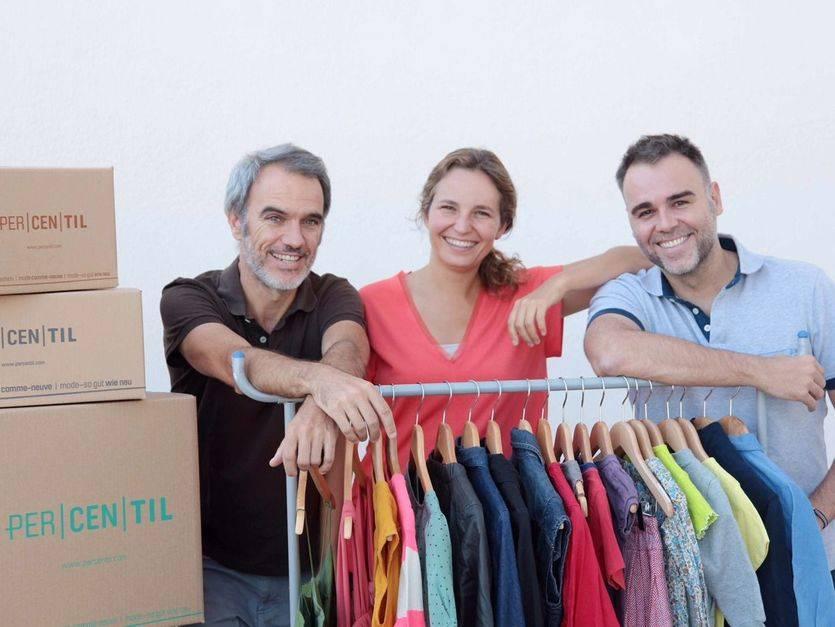 Fundadores PERCENTIL: Daniel Bezares, Lourdes Ferrer y Luis Ongil