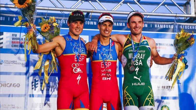 El español Gómez Noya logra su quinto título mundial en Chicago