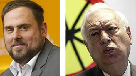 El extraño debate de un ministro frente a un candidato catalán: Margallo vs. Junqueras