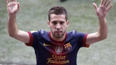 Jordi Alba, baja del Barça contra el Celta de Vigo por molestias cervicales