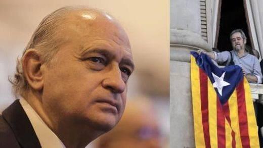 Comparaciones ardientes: Fernández Díaz equipara la guerra de banderas de Barcelona con ETA