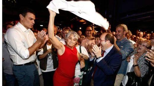 'Si a la convivencia; no a la independencia', el mensaje final de Iceta en su gran fiesta de cierre de campaña